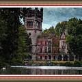 Castle Kapadia. L B With Decorative Ornate Printed Frame. by Gert J Rheeders