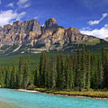 Castle Mountain Banff The Canadian Rockies by Rod Jellison