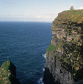 Castle On The Cliffs Of Moher by Carl Purcell