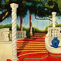 Castle Patio 3 by Milagros Palmieri