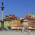 Castle Square And Sigismund's Column Warsaw Poland by Ivan Pendjakov