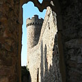 Castle Tower Thru Window by Ron Hayes