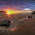 Caswell Bay Sunrise by Leighton Collins