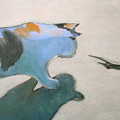 Cat And Lizard  by Kazumi Whitemoon