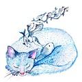 Cat Dreams by Sweeping Girl