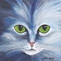 Cat Eyes Blue by Jutta Maria Pusl