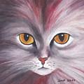 Cat Eyes Red by Jutta Maria Pusl