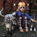 Cat Girl by Jutta Maria Pusl