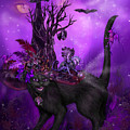 Cat In Goth Witch Hat by Carol Cavalaris