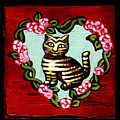 Cat In Heart Wreath 2 by Genevieve Esson