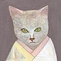 Cat In Kimono by Kazumi Whitemoon