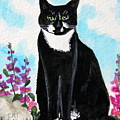 Cat In The Garden by Elizabeth Robinette Tyndall