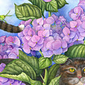 Cat In The Garden by Mindy Lighthipe