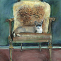 Cat On A Chair by Marcelle Schvimmer