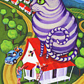 Cat On A Red Tin Roof by Rebecca Korpita