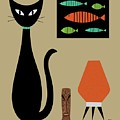 Cat On Tabletop 2 by Donna Mibus