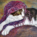 Cat Painting  Charlie The Pirate by Frances Gillotti