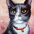 Cat Painting Cat Portrait Watercolor Cat Cat Art Cat Lover Gift Animal Portrait Watercolor Original by Karina Soboleva