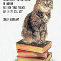 Cat Quote By Ernest Hemingway by Zapista