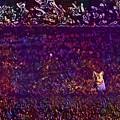 Cat Sunshine Caught View Portrait  by PixBreak Art