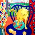 Cat - Tribute To Matisse by Cristina Stefan