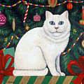 Cat Under The Christmas Tree by Linda Mears