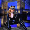 Cat Woman In London by Jon Volden