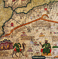 Catalan Map Of Europe And North Africa Charles V Of France In 1381  by Abraham Cresques