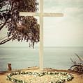 Catalina Island Cross Picture Retro Tone by Paul Velgos