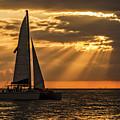 Catamaran Sunset Cruise In Key West by Bob Slitzan
