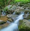 Catawba Stream Cascades At High Shoals Falls In North Carolina by Ranjay Mitra