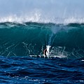 Catching A Big Wave, North Shore, Oahu by Debra Banks