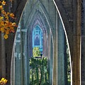 Cathedral Columns Of The St. Johns Bridge by Bruce Bley
