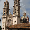 Cathedral In Taxco Mexico by Carl Purcell