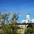 Cathedral Landmark And Central Helsinki View In Finland by Jacek Malipan