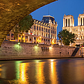 Cathedral Notre Dame And River Seine - Paris by Brian Jannsen