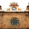 Cathedral Of Cartagena Clock by John Rizzuto