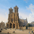 Cathedral Of Notre-dame At Reims by Domenico Quaglio