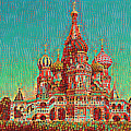 Cathedral Of St. Basil, Moscow Russia by Wernher Krutein