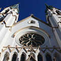 Cathedral Of St John The Babtist In Savannah by Carol Groenen