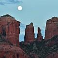 Cathedral Rock Moon 081913 E2 by Edward Dobosh