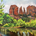 Cathedral Rocks In Crescent Moon Park by Marilyn Froggatt