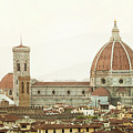 Cathedral Santa Maria Del Fiore At Sunset, Florence. by Antonio Gravante