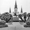 Catholic Basilica Jackson Sq Andrew Jackson New Orleans  by Chuck Kuhn