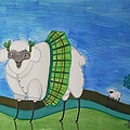 Catholic School Sheep by JoLynn Potocki
