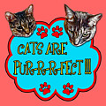 Cats Are Pur-r-r-fect by David G Paul