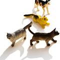 Cats Figurines by Bernard Jaubert