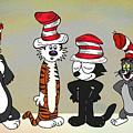 Cats In Hats Too by John Haldane