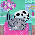 Cats In Spring by Mary Stubberfield
