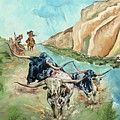 Cattle Drive by Debbie Sampson